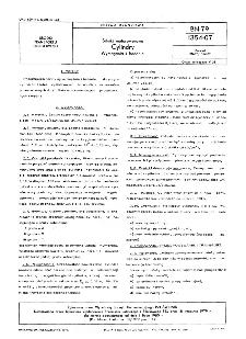 Silniki motorowerowe - Cylindry - Wymagania i badania BN-79/1354-07