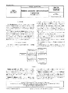 Badania pojazdów samochodowych i przyczep - Wytyczne ogólne BN-79/3615-01