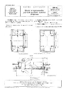 Drzwi strugoszczelne jednoskrzydłowe stalowe okrętowe BN-80/3712-17.01