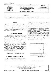 Koordynacja wymiarowa mieszkalnych pomieszczeń okrętowych - Wymiary kontrolne BN-80/3763-09.03