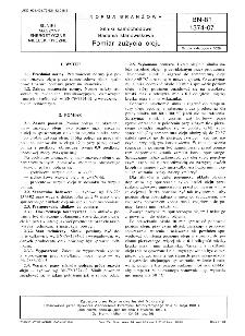 Silniki samochodowe - Badania stanowiskowe - Pomiar zużycia oleju BN-81/1374-07