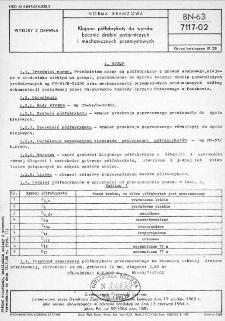 Klejone półfabrykaty do wyrobu bocznic drabin pożarniczych i mechanicznych przemysłowych BN-63/7117-02