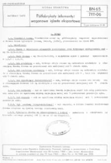 Półfabrykaty (elementy) wagonowe iglaste eksportowe BN-65/7111-06