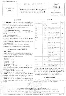 Tarcica liściasta do wyrobu instrumentów muzycznych BN-67/7111-14