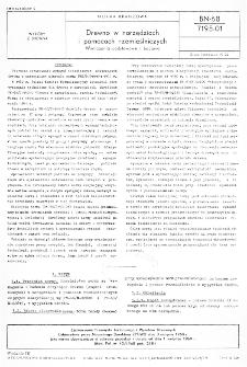 Drewno w narzędziach i pomocach rzemieślniczych - Wymagania podstawowe i badania BN-68/7195-01