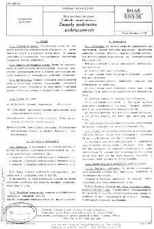 Nawierzchnia kolejowa - Podkłady normalnotorowe - Zespoły podkładów podzłączowych BN-68/9313-05