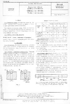 Nawierzchnia kolejowa - Podkłady normalnotorowe - Otwory na wkręty - Wymiary i rozmieszczenia BN-68/9313-06