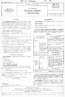 Tory kopalniane - Drewniane podkłady i podrozjezdnice BN-70/0454-01