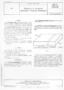 Nadmiary na skrawanie elementów z tworzyw drzewnych BN-71/7103-08