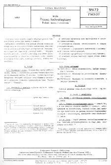 Meble - Proces technologiczny - Podział, nazwy i określenia BN-72/7140-07