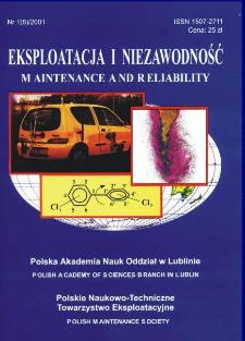 Eksploatacja i Niezawodność = Maintenance and Reliability Nr 1 (8)2001