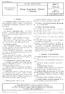 Fryzy eksportowe dębowe i bukowe BN-73/7111-02