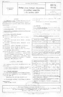 Półfabrykaty dębowe eksportowe na podłogi wagonów i do wyrobu palet BN-73/7111-16