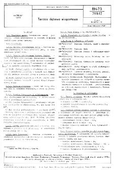 Tarcica dębowa eksportowa BN-73/7111-17