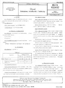 Chrust brzozowy miotlarski i hutniczy BN-74/9224-02