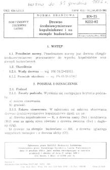 Drewno średniowymiarowe kopalniakowe i na stemple budowlane BN-75/9222-02
