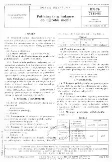 Półfabrykaty bukowe do wyrobu mebli BN-76/7111-01