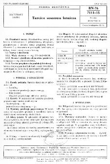 Tarcica sosnowa lotnicza BN-76/7111-15