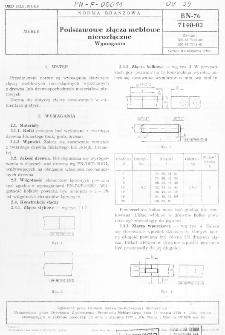 Podstawowe złącza meblowe nierozłączne - Wymagania BN-76/7140-02