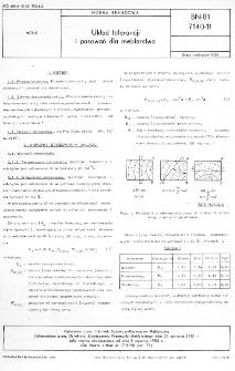 Układ tolerancji i pasowań dla meblarstwa BN-81/7140-11