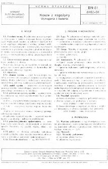 Kosze z rogożyny - Wymagania i badania BN-81/8463-04