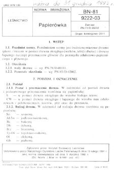 Papierówka BN-81/9222-03