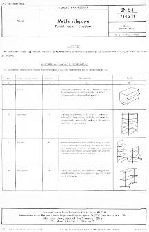 Meble sklepowe - Podział, nazwy i określenia BN-84/7146-11