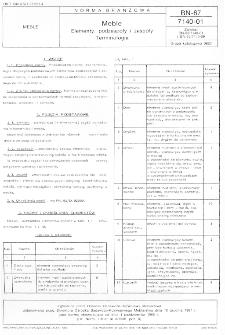 Meble - Elementy, podzespoły i zespoły - Terminologia BN-87/7140-01