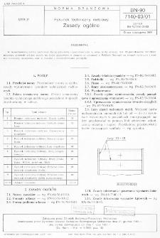 Rysunek techniczny meblowy - Zasady ogólne BN-90/7140-03/01