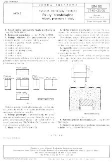 Rysunek techniczny meblowy - Rzuty prostokątne - Widoki, przekroje i kłady BN-90/7140-03/07