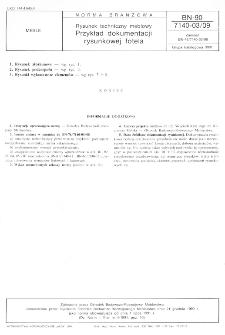 Rysunek techniczny meblowy - Przykład dokumentacji rysunkowej fotela BN-90/7140-03/09