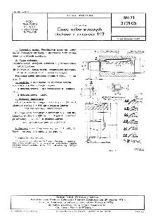 Linia wałów - Czopy wałów śrubowych stożkowe o zbieżności 1:12 BN-71/3721-05