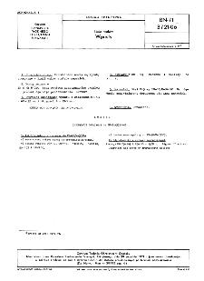 Linia wałów - Wpusty BN-71/3721-06