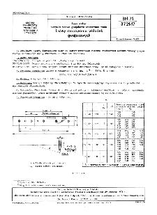 Linia wałów - Łożyska rufowe gwajakowe smarowane wodą - Listwy mocowania wkładek gwajakowych BN-71/3721-17