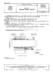 Linia wałów - Dławice łożysk rufowych BN-71/3721-19