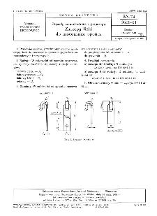 Pojazdy samochodowe i przyczepy - Zaczepy linki do mocowania opończ BN-74/3616-01