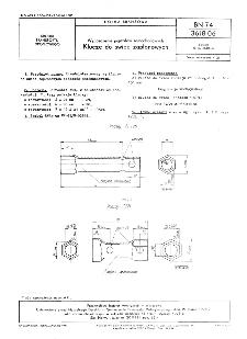 Wyposażenie pojazdów samochodowych - Klucze do świec zapłonowych BN-74/3618-06