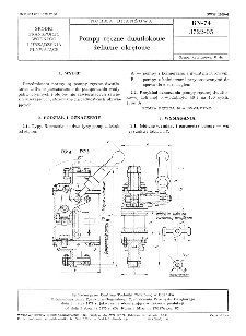 Pompy ręczne dwutłokowe żeliwne okrętowe BN-74/3722-05