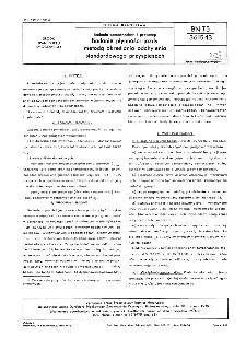 Badania samochodów i przyczep - Badanie płynności jazdy metodą określania odchylenia standardowego przyspieszeń BN-75/3615-13