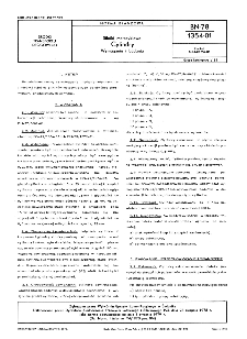 Silniki motocyklowe - Cylindry - Wymagania i badania BN-78/1354-01