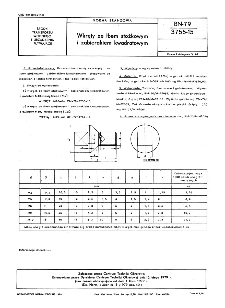Wkręty ze łbem stożkowym i zabierakiem kwadratowym BN-79/3755-15