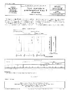 Drzwi wewnętrzne przeciwogniowe klasy B okrętowe - Główne wymiary BN-81/3712-22.00