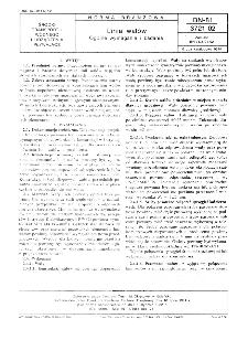 Linia wałów - Ogólne wymagania i badania BN-81/3721-02