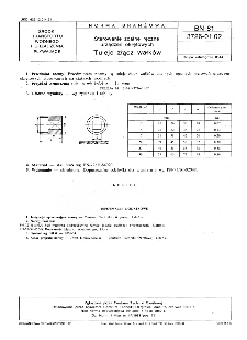Sterowanie zdalne ręczne urządzeń okrętowych - Tuleje złącz wałków BN-81/3726-01.02
