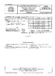 Sterowanie zdalne ręczne urządzeń okrętowych - Wałki teleskopowe złącz wałków BN-81/3726-01.03