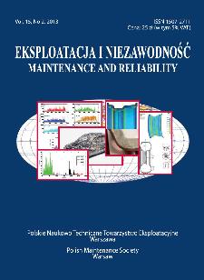 Eksploatacja i Niezawodność = Maintenance and Reliability Vol. 15 No. 2, 2013