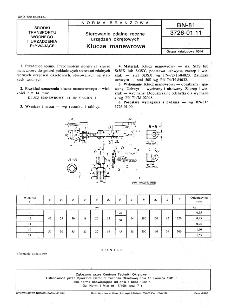 Sterowanie zdalne ręczne urządzeń okrętowych - Klucze manewrowe BN-81/3726-01.11