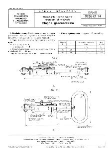 Sterowanie zdalne ręczne urządzeń okrętowych - Cięgna gazoszczelne BN-81/3726-01.14