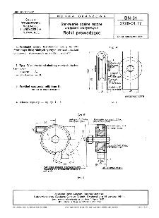 Sterowanie zdalne ręczne urządzeń okrętowych - Rolki prowadzące BN-81/3726-01.17
