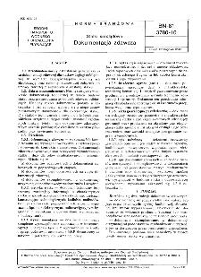 Statki śródlądowe - Dokumentacja zdawcza BN-81/3780-10